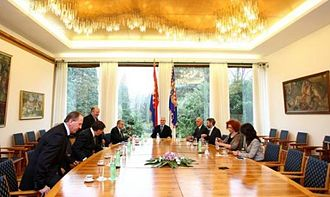 President of Croatia - The North Salon is the main conference room in the Presidential Palace.