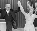 President Gerald Ford and First Lady Betty Ford celebrate winning the nomination at the Republican National Convention, Kansas City, Missouri (cropped01).jpg
