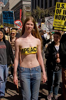 Pro-Impeachment anti-war protester 2007