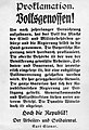 Proklamation - Novemberrevolution Bayern - Kurt Eisner - 1918-11.jpg