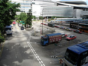 Proposed west construction site of Exhibition Station (MTR).JPG
