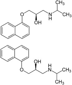 Propranolol chemical structure