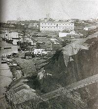 El puerto de Rosario a mediados del siglo XIX (foto de 1868)