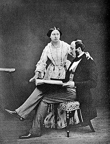 Dronning victoria og prins albert i 1854