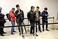 Queue of Adventurers Waiting to Witchwood Launch Warming up Party 20180407a.jpg