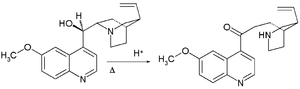Quinine total synthesis - Quinine degradation by Pasteur