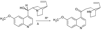 Quinine degradation by Pasteur