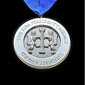 RIBA President's Medals Students Award - The RIBA SIlver Medal is awarded annually by the Royal Institute of British Architects to a student or recent graduate of Architecture.