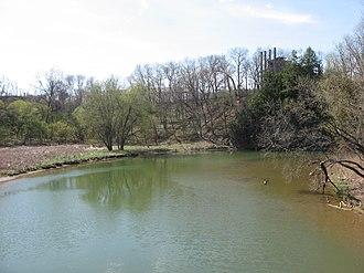 Raccoon Creek (Beaver County, Pennsylvania) - Raccoon Creek near its mouth