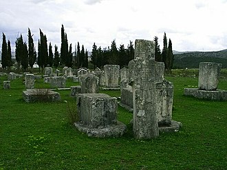 Stećak - Stećci at Radimlja necropolis.