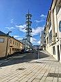 "Radio tower (""Telebygget"") in Borggata 10, Leirvik town, Stord Island, Norway 2018-03-13 c.jpg"
