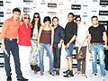 Rahul Dev, Mandira Bedi, Rocky S at Van Heusen Men's Fashion Week model auditions 04.jpg