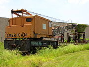 Diesel-powered railroad crane for maintenance work – Tampa, Florida.