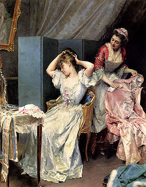 Maid - A Lady's maid, by Raimundo Madrazo c. 1890–1900