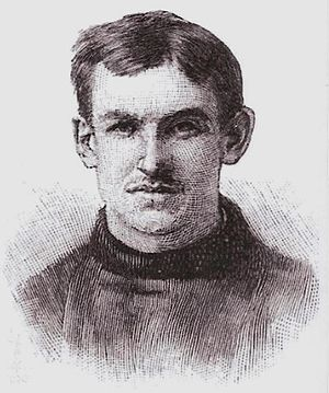 "Ralph Warren (American football) - Portrait of Warren from Walter Camp's 1894 book, ""American Football"""