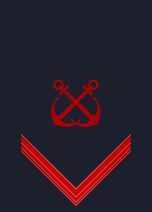 Corps of the Port Captaincies – Coast Guard - Image: Rank insignia of comune di prima classe of the Italian Coast Guard