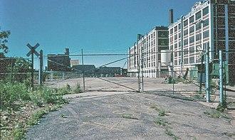 Stewart-Warner - Image: Rare View of Back of Main Stewart Warner Complex in Chicago in 1990