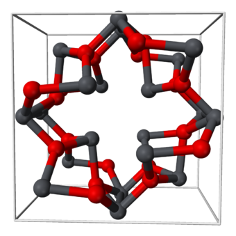 Lead and oxygen in a tetragonal unit cell of lead(II,IV) oxide Red-lead-unit-cell-3D-balls.png
