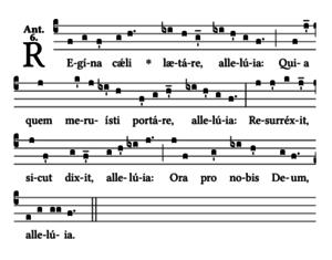 Regina Coeli - Notation