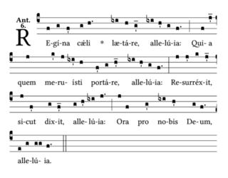 Regina caeli Medieval hymn to Mary, mother of Jesus