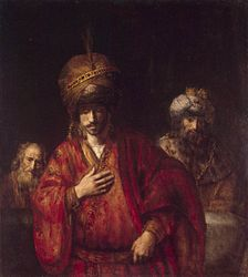 Rembrandt: Haman recognizes his fate