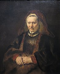 Portrait of an Old Woman in a Fur Robe