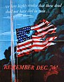 """Remember December 7th"""" US Government propaganda poster concerning the Attack on Pearl Harbor of 1942.jpg"""