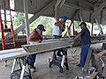 Repairing Bradley Covered Bridge Center Street Lyndonville VT August 2019 02.jpg