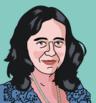 Retrato, ilustración de Alicia Sintes, Doctora en Física de la UIB. Ilustración de Pelopantón.png