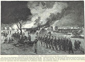 16th New York Volunteer Infantry Regiment - The 16th New York retreats with the Union Army after the Battle of Gaines's Mill