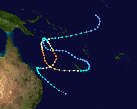 Track map of Tropical Cyclone Rewa, based on data from the Joint Typhoon Warning Center. Rewa 1993 track.png