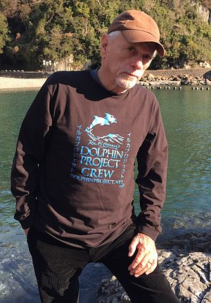 The Cove (film) - Ric O'Barry at the Cove in Taiji, Japan 2014