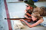 Rifle practice at Camp La Junta, circa 1980 · DF-ST-82-08389.jpg