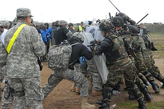 State Partnership Program - Image: Riot Control Exercise