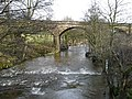 River Esk in spate near railway viaduct - geograph.org.uk - 662285.jpg