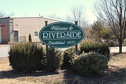 Welcome sign in Riverside