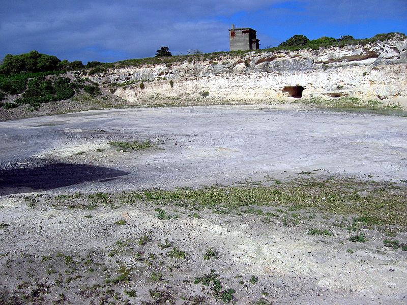 Mina de cal en la isla Robben, donde Mandela y otros prisioneros fueron sometidos a trabajos forzados.