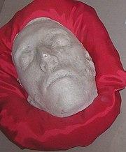 Robert Emmet's Death Mask in Kilmainham Jail.
