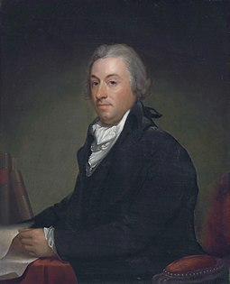 Robert R. Livingston, member of the Committee of Five that drafted the Declaration of Independence. Robert R Livingston, attributed to Gilbert Stuart (1755-1828).jpg