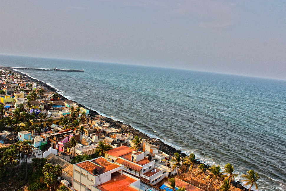 Aerial view of Puducherry