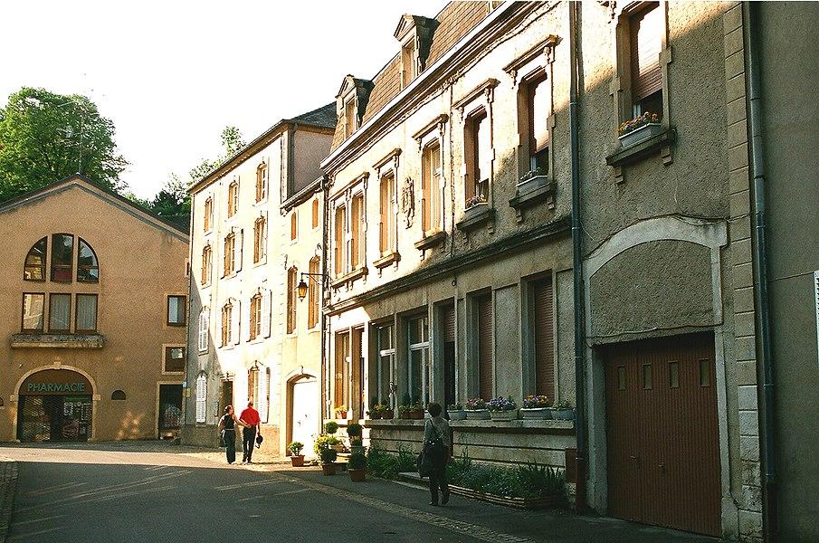 "Rodemack, on the street  ""Rue de la Franchise"""