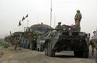 Romanian military convoy in Afghanistan