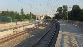 Romashkovo railway platform (view to platforms from north).JPG