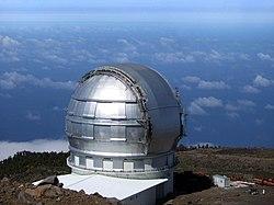 Gran Telescopio Canarias, perteneciente al Instituto de Astrofísica de Canarias.