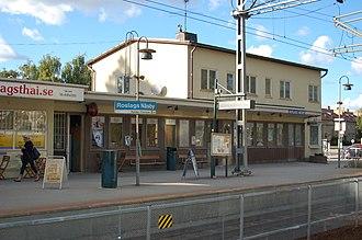 Roslags Näsby - Roslags Näsby railway station