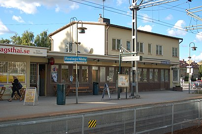 How to get to Roslags Näsby Station with public transit - About the place