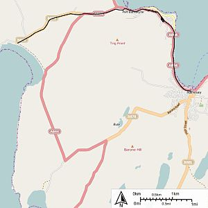 Rothesay and Ettrick Bay Light Railway - Map of Rothesay and Ettrick Bay Light Railway routes