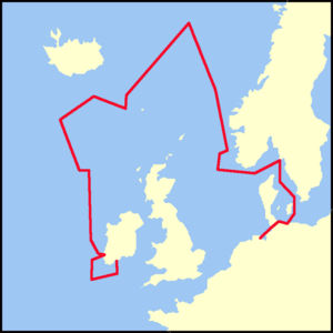 SS Libau - Approximate route in April 1916, via the Kiel Canal, the Arctic Circle and Rockall.
