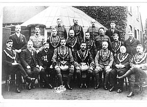Royal Antediluvian Order of Buffaloes - Royal Antediluvian Order of Buffaloes Civil and Military Lodge, Whittington, Staffordshire, c. 1920
