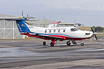 Royal Flying Doctor Service of Australia Central Operations (VH-FGS) Pilatus PC-12-45 at Wagga Wagga Airport.jpg